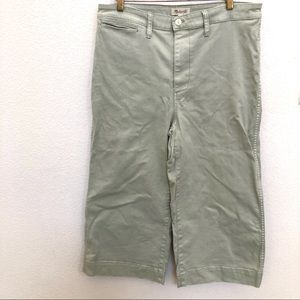 Madewell Mint Green Wide Leg Jeans - Size 32P